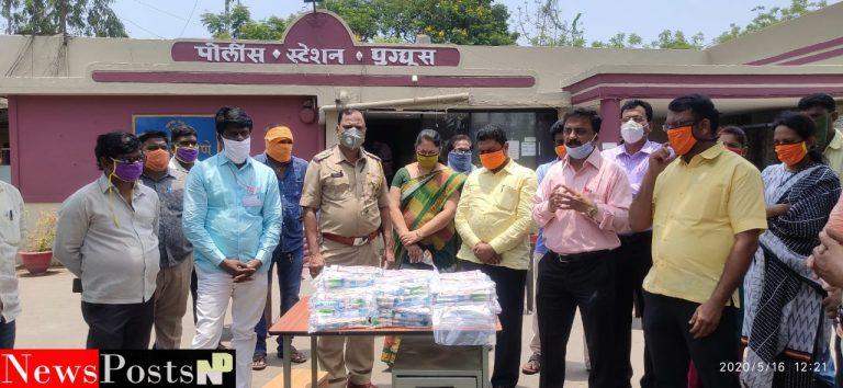 भारतीय जनता पक्षातर्फे पोलीस विभागाला आरोग्य किटचे वितरण